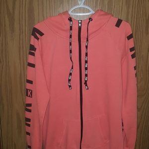 PINK zip-up sweater